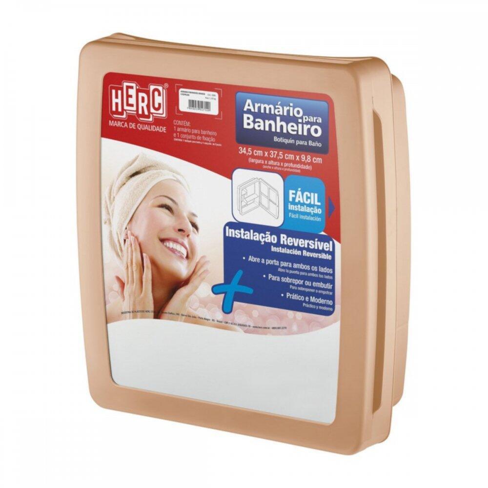 Armário para Banheiro Universal Caramelo Herc